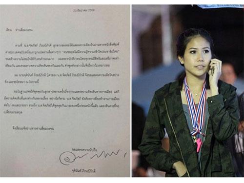 Thái Lan: Nữ thủ lĩnh biểu tình bị cha từ mặt