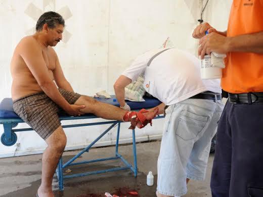 Hơn 70 người đã bị thương. Ảnh: AP