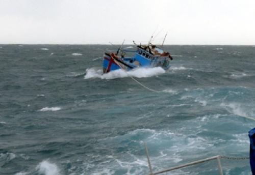 Chưa thể tiếp cận 9 ngư dân gặp nạn ở Trường Sa