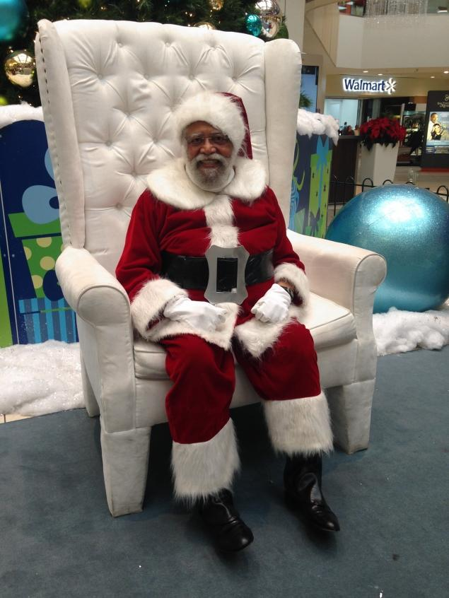 Langston Patterson, of Leimert Park, has been suiting up as Santa for nine years.