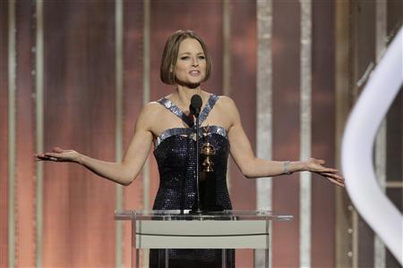 Jodie Foster công khai giới tính thật tại lễ trao giải Quả cầu Vàng. Ảnh: Reuters