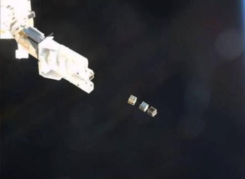 PicoDragon của Việt Nam cùng 2 vệ tinh siêu nhỏ khác của Mỹ được đưa vào quỹ đạo. Ảnh do VNSC cung cấp