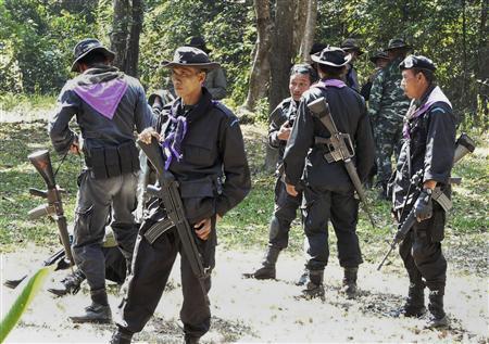 Quân đội Thái Lan đóng tại vùng biên giới với Campuchia. Ảnh: Reuters
