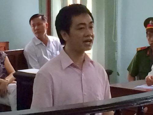 Bị cáo Huỳnh Thanh Hùng tại phiên tòa