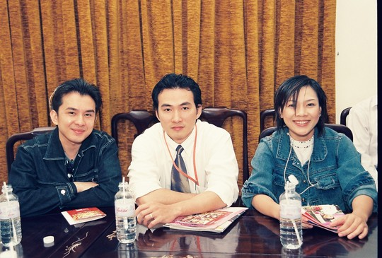 Từ trái sang: Đan Trường, Chi Bảo, Mỹ Tâm