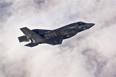 Chiếc F-35B Lightning II do tập đoàn Lockheed Martin chế tạp. Ảnh: Reuters