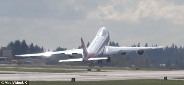 The pilot of the Boeing 747-8F freight plane prepares to perform a skilled manoeuvre known as a wing wave