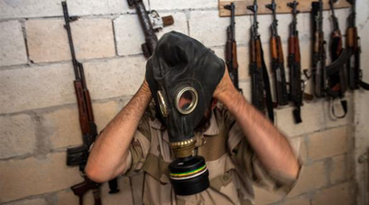 IS đã sử dụng vũ khí hóa học, cụ thể là khí clo trên chiến trường. Ảnh: Iraqi News