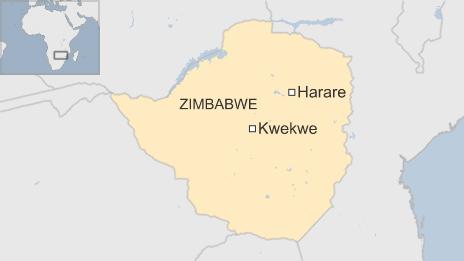 Khu vực xảy ra vụ giẫm đạp làm 11 người chết tại Zimbabwe. Ảnh: BBC
