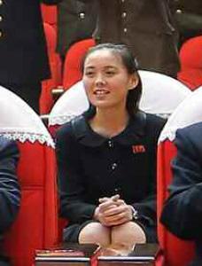 Người em gái được cho là em gái ông Kim Jong-un, Kim Yo-jong. Ảnh: Korea Joongang Daily