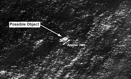 Ảnh vệ tinh một trong những vật thể được phát hiện trên Ấn Độ Dương hồi tháng 3. Ảnh: Reuters