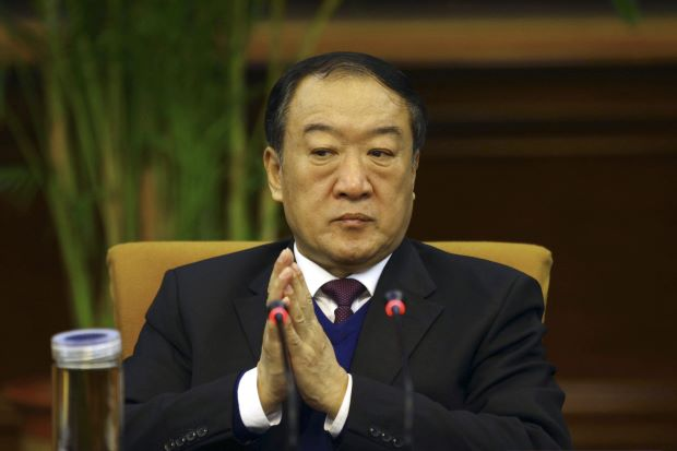 Then Communist Party Secretary of Jiangxi province, Su Rong attends a group discussion during the National Peoples Congress in Beijing March 6, 2012. REUTERS/Stringer