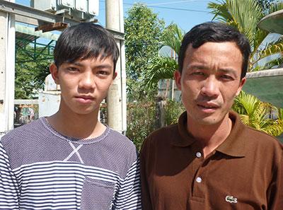 Đặng Minh Quân (trái) và Nguyễn Văn Bảy