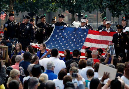 Lễ kỷ niệm ngày 11-9-2013 ở New York. Ảnh: AP