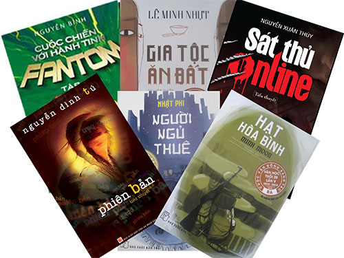 Bìa sách in các tác phẩm văn học trẻ