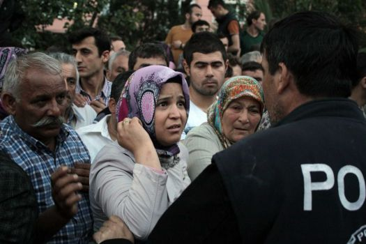 Relatives try to get information outside a local hospital after an explosion and fire at a coal mine in Soma, in western Turkey, Tuesday, May 13, 2014. An explosion and fire at a coal mine in western Turkey killed at least one miner Tuesday and left up to 300 workers trapped underground, a Turkish official said. Twenty people were rescued from the mine in the town of Soma in Manisa province but one later died in the hospital, Soma administrator Mehmet Bahattin Atci told reporters. The town is 250 kilometers (155 miles) south of Istanbul. Photo: Depo Photos, AP / Depo Photos