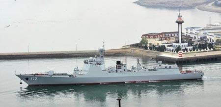 Khu trục hạm Côn Minh của hải quân Trung Quốc. Ảnh: Want China Times