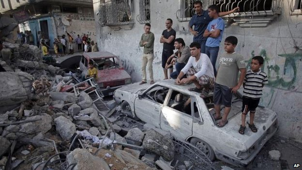 Air strike on Rafah, southern Gaza, on Friday 11 July