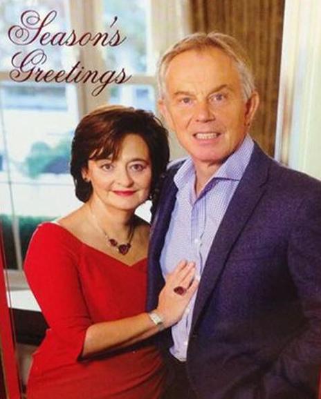 Tony and Cherie Blairs Christmas card