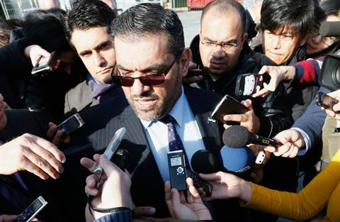 Đại biểu phe đối lập Syria Anas al-Abdah. Ảnh: Reuters