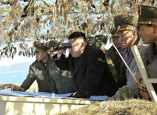 Chủ tịch Triều Tiên Kim Jong-un trong một lần thị sát đơn vị biên giới. Ảnh: Yonhap