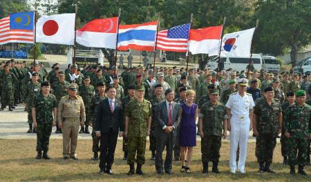 Cuộc tập trận Hổ mang vàng 14 khai mạc ở Thái Lan hôm 11-2. Ảnh: Kyodo News