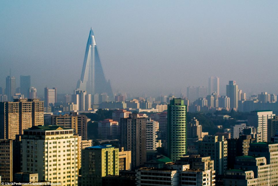 Not the Shard: This building could almost be mistaken for the Shard in London, but it is in fact the Pyramid Hotel in Pyongyang, North Korea