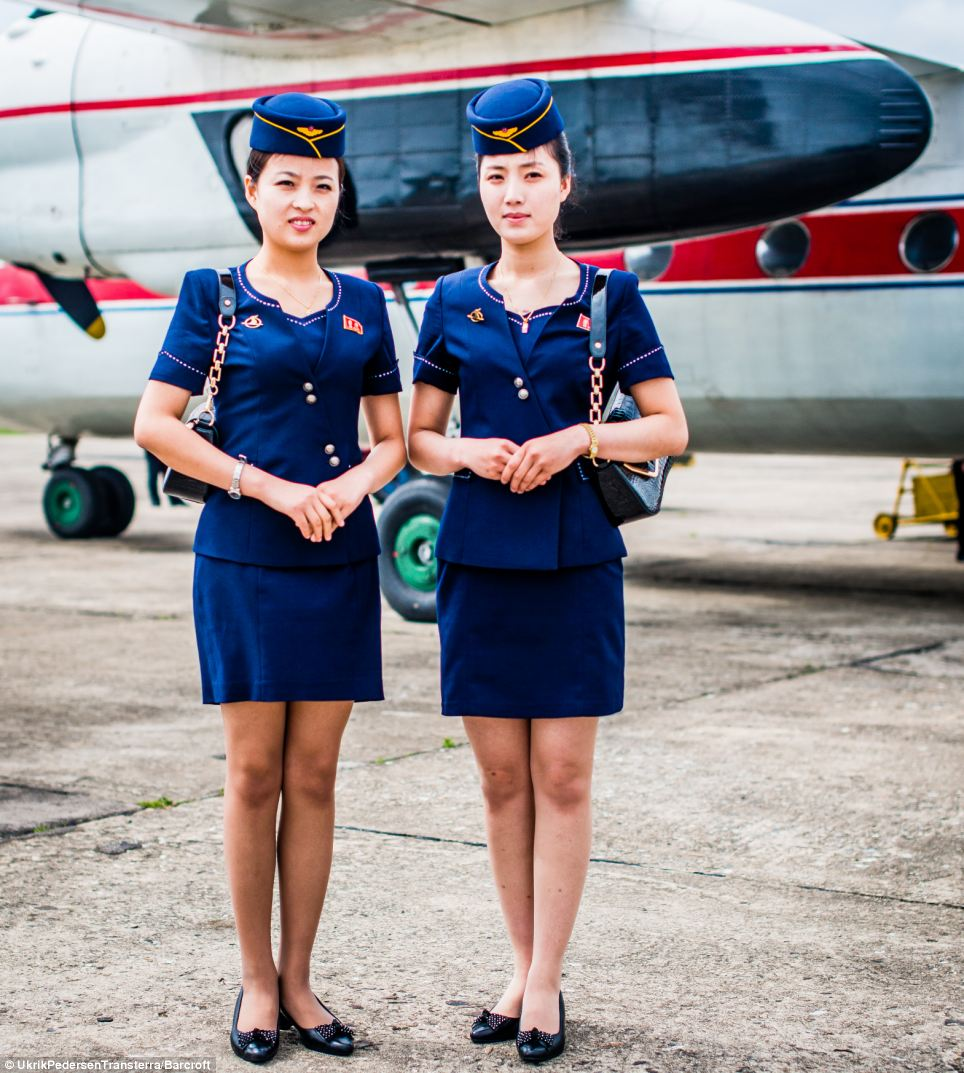 Welcome to North Korea: Photographer Ulrik Pedersen has captured the softer side of the isolated nation, including air hostesses from state-owned Air Koryo that met him before his flight in