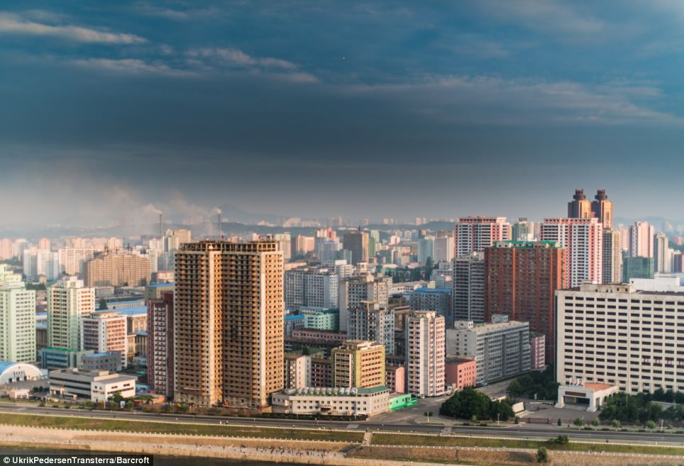 As well as tranquil countryside Pedersen was allowed to photograph some of the more gritty, urban landscape around the capital Pyongyang