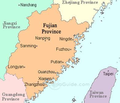 Thành Phố Phúc Châu (Fuzhou), tỉnh Phúc Kiến (Fujian), Trung Quốc