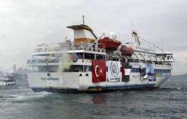 Đội tàu Mavi Marmara khởi hành tháng 5-2010. Ảnh: Reuters