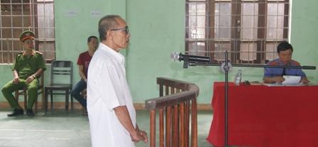 Bị cáo Phạm Văn Đậu tại phiên tòa