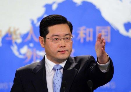 Phát ngôn viên Tần Cương: Malaysia nên đẩy mạnh công tác tìm kiếm và cứu hộ các nạn nhân. Ảnh: CNS