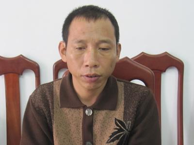 Vũ Văn Lưu tại cơ quan Công an.