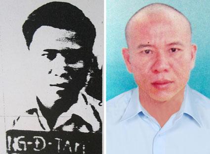Nguyễn Đình Tâm (bìa trái cách nay 31 năm về trước) và hiện nay.