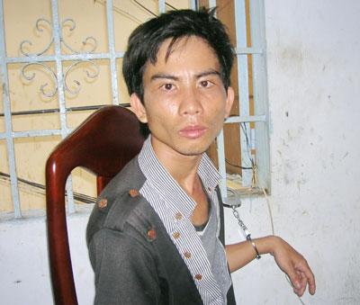 Nguyễn Văn Lưu sau khi bị bắt khẩn cấp.