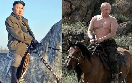 Horsemen of the Apocalypse? Kim Jong-un and Vladimir Putin. (Internet photo)