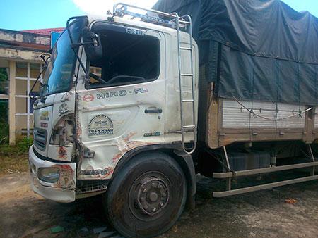 Xe tải BKS 43C – 02686 đang được tạm giữ để điều tra