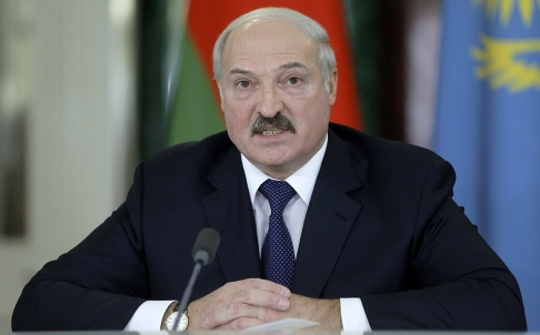 Belarus President Lukashenko speaks at the Kremlin in Moscow on Tuesday. Photo: Reuters