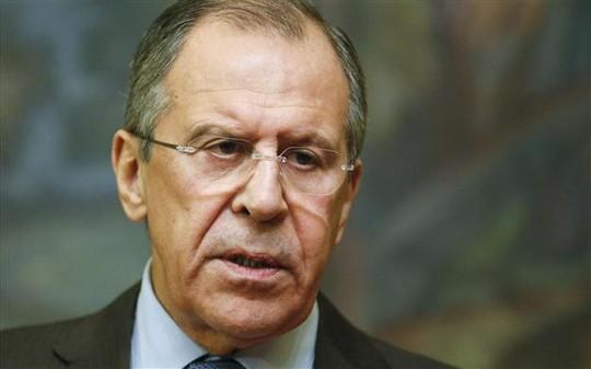 """Ngoại trưởng Nga Sergei Lavrov lên tiếng cáo buộc Mỹ cùng liên quân do Mỹ dẫn đầu đang chống IS ở Syira có thể chỉ là chiêu nhằm """"bí mật"""" lật đổ chế độ Tổng thống Assad. Ảnh: Reuters"""