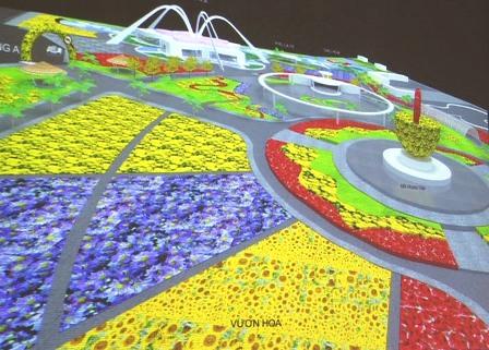 Phối cảnh Công viên hoa Sa Đéc được thực hiện trên diện tích hơn 22ha