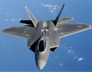 stealth F-22 jet