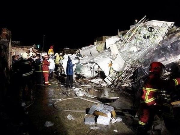 Hiện trường vụ tai nạn. Ảnh: Apple Daily