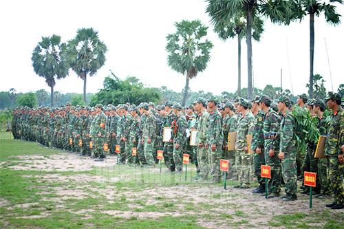 Tiểu đoàn 6 (Trung đoàn 20, Sư đoàn 330) là đơn vị chính thực hành diễn tập.