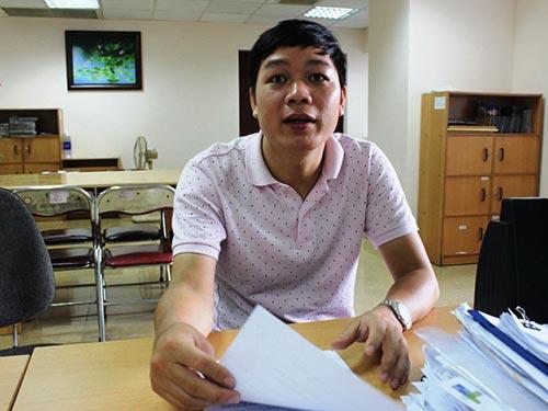 Ông Nguyễn Công Hân trình bày việc TDC không thực hiện đúng cam kết, chiếm dụng tiền của mình