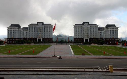 Một tỉnh rất nghèo như Lai Châu cũng xây khu hành chính tập trung hoành tráng trên 550 tỉ đồng Ảnh: THANH HÀ