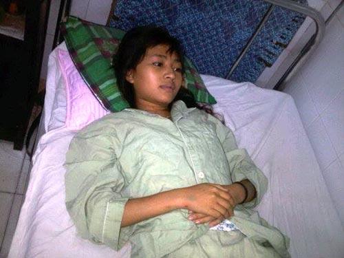 Em Nguyễn Thị Vy Na đang điều trị tại  bệnh viện