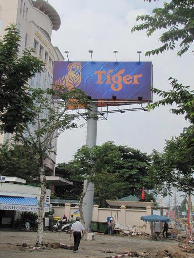 Trụ quảng cáo góc đường Lê Duẩn - Trần Phú được ưu ái giao cho VietArt OOH đầu tư, khai thác
