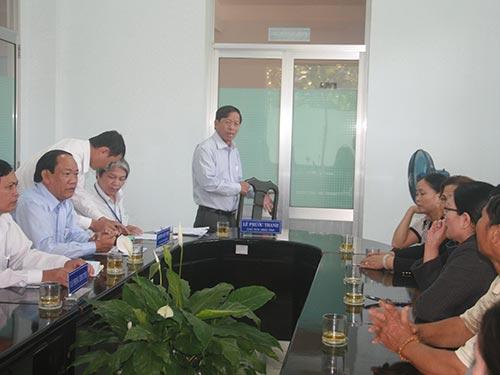 Chủ tịch UBND tỉnh Quảng Nam Lê Phước Thanh gặp gỡ các chủ nợ của Nhà máy Cồn Ethenol Đại Tân