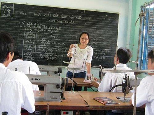 Dạy nghề cho người cai nghiện tại Trung tâm Giáo dục thường xuyên TNXP
